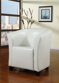 Seattle Tub Chair - White Leather - Single