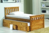 Bergamo 3ft Guest Bed W/Storage - Antique
