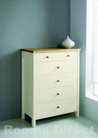 Atlantis Painted Two Tone 4+2 Drawer Chest
