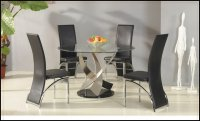 Mystique Glass Round Dining Table