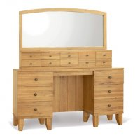 Stretton Natural Oak Dresser w/Drawers & Mirror