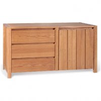 Reclaimed Teak - Sideboard 3 Drawer 1 Door