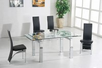 Madrid Glass Extending Dining Table - Clear - Plus 6 x RD-501 Ch