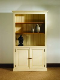 Mottisfont Painted Pine Bookcase with 2 doors
