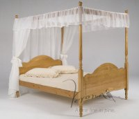 Veneza Antique Pine Bed 4 Poster 3ft Single