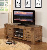 Santana Reclaimed Oak TV Cabinet with 4 Drawers