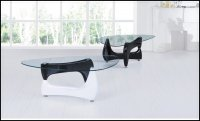 Quebec Glass Coffee Table Black