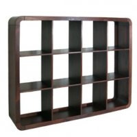 Dark Wood Cube Unit 12 Shelf