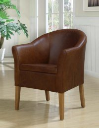 Boston Tub Chair - Antique Leather