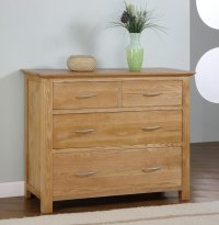 Greenwich Ashwood 2/2 Chest Of Drawers
