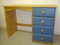 Verona Blue Pine Single Pedestal Dressing Table