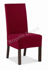 Jafar Mango Loose Dining Chair Cover - Red (Pair)