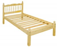 Balmoral Pine 4ft 6in Low Footend Spindle Bedstead