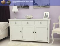 Hampton Painted Three Door Sideboard