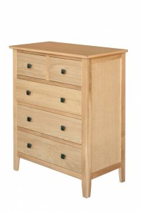 Avignon Solid Oak 2 over 3 Chest Of Drawers