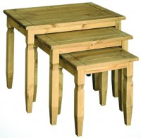 Santa Fe Antique Pine Nest Of Tables