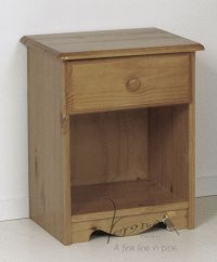 Verona Antique Pine Bedside 1 Drawer