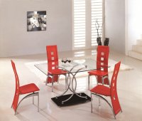 Nimes Glass Dining Table - Clear - Plus 6 x RD-525 Chairs