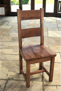 Brooklyn Reclaimed Oak Dining Chair Solid Seat (Pair)