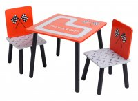 Racing Car Childrens Table And 2 Chairs