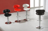 Rayleigh Bar Stool - Black, Brown, Red, White or Cream (pair)