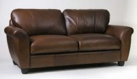 knighsbridge Leather Sofa - 3 Seater - Brown Analine Leather