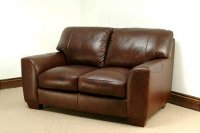 Eaton Leather Sofa - 2 Seater - Brown Analine Leather