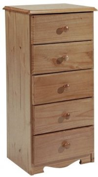 Verona Antique Pine Bedside 5 Drawer