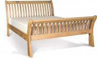 Stretton Natural Oak Sleigh Bed Double / King / Super King