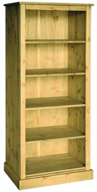 Santa Fe Antique Pine Open Bookcase