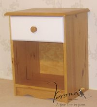 Verona White Pine Bedside 1 Drawer