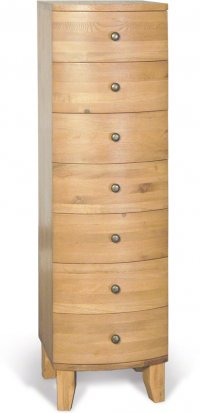 Stretton Natural Oak 7 Drawer Tall Chest of Drawers