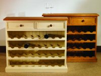 Mottisfont Painted or Waxed Pine Wine Rack 32 Bottle