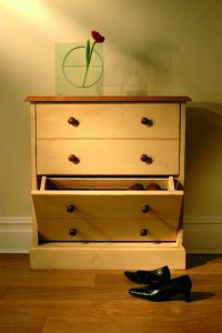 Mottisfont Painted Pine Shoe Rack Medium