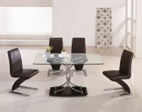 Nimes Glass Dining Table - Clear - Plus 6 x RD-601 Chairs