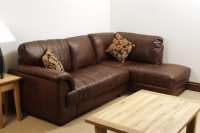 Isabella Leather Corner Sofa - Brown Analine Leather