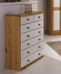 Verona White Pine Chest 5+2 Drawer