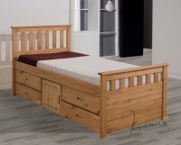 Ferrara 3ft Pine Antique Storage Bed