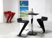 Z Bar Stools Designer - Black, White or Red (pair)