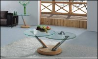 Tokyo Glass Coffee Table Oak