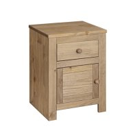 Hacienda Pine Bedside 1 Door 1 Drawer