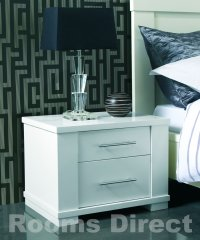Metro White 2 Drawer Nightstand
