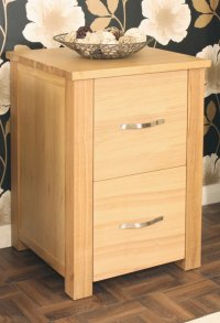 Ashton Oak Two Drawer Filing Cabinet