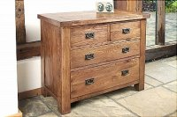 Brooklyn Reclaimed Oak Chest Of Drawers 2 Over 2