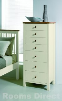 Atlantis Painted Two Tone 7 Drawer Tall Chest