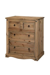 Corona Mexican Pine 2+2 Drawer Chest