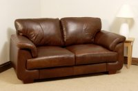 Isabella Leather Sofa - 2 Seater - Brown Analine Leather