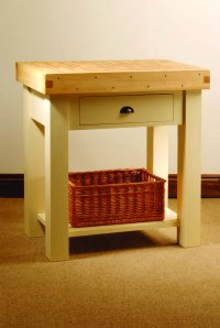 Mottisfont Painted Pine Kitchen Butchers Block
