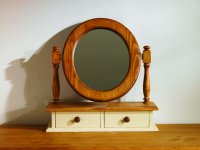 Mottisfont Painted Pine Dressing Table Oval Mirror