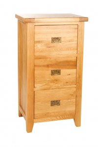 Provence Oak Filing Cabinet 3 Drawer